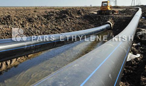 High density polyethylene water pipe